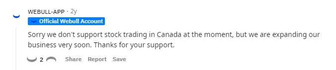When Webull is coming to Canada