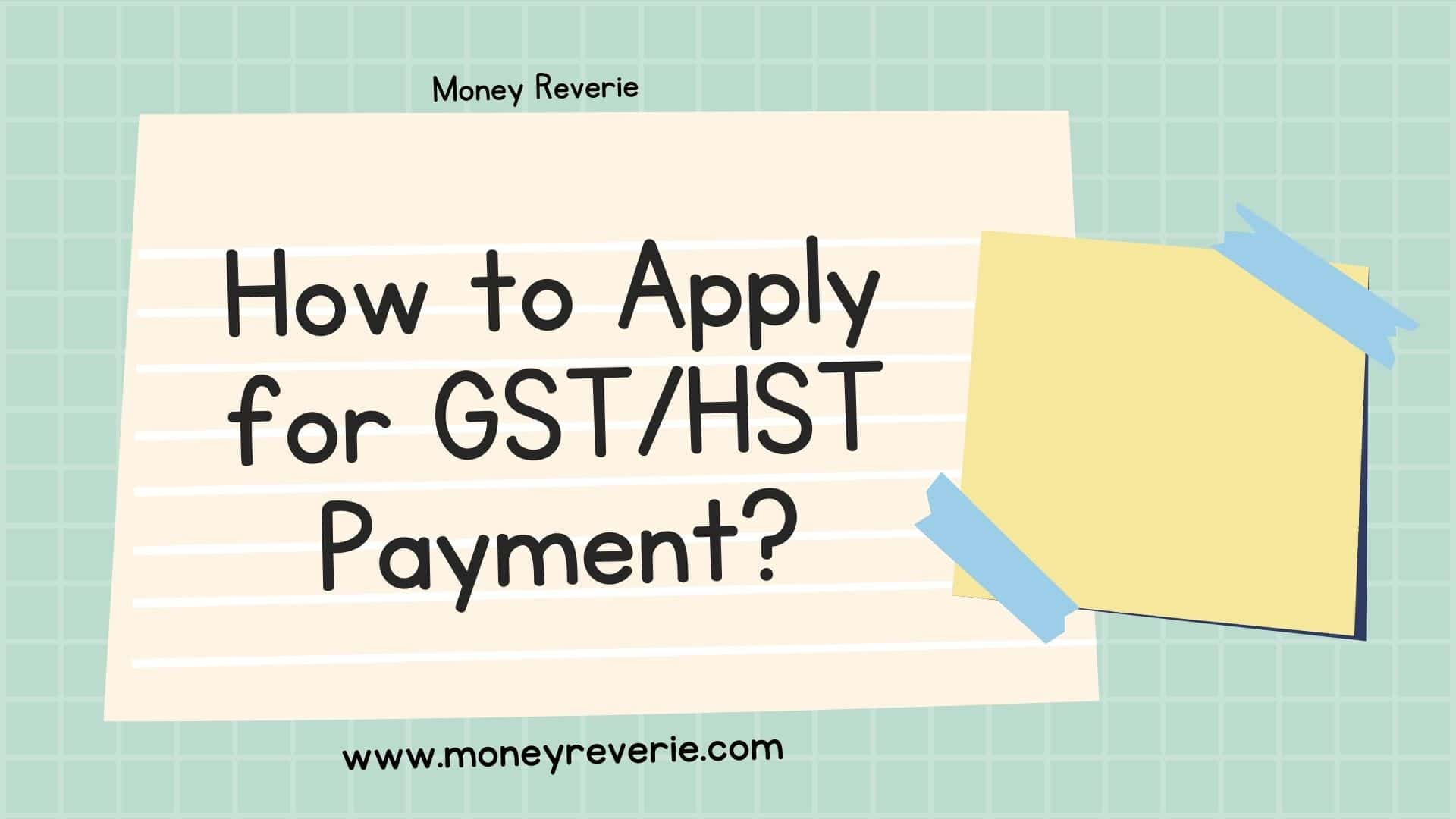 How to apply for gsthst
