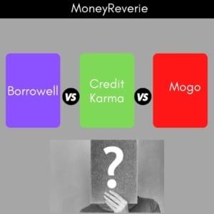 Borrowell vs Credit Karma vs Mogo